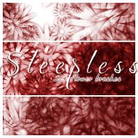 Sleepless - 20 floral brushes by sleepwalkerfish