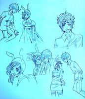 Doodle Dump: Fionna and Marshall Lee by majesticmelaniee