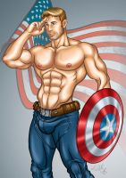 Captain America by AsmodisArt