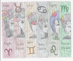 Homestuck Bookmarks Set 1 by KariSohma22