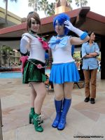 Sailor Jupiter and Sailor Mercury by bear213