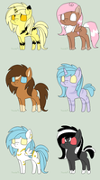 Pony adoptables *OPEN* by ElleZevi