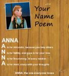 Anna's Name Poem by FlyingPrincess