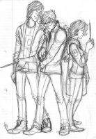 Sketchy Trio by Catching-Smoke