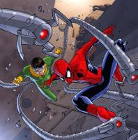 SPIDEY VS DOC OCK COVER by deemonproductions