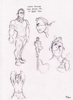 Beast Character Sketches 2 by BevisMusson