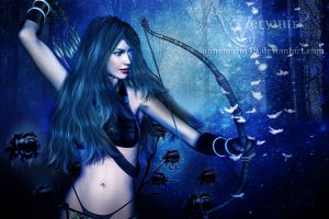The hunter woman by annemaria48