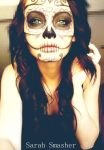 Candy Skull Makeup by SarahSmasher