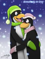 Penguins of Christmas - Somebody to love! by SAGADreams