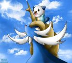 Oshawott And Samurott by KairouZ