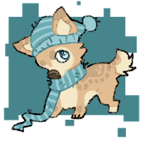 winter pup adopt .open. by sailordoq