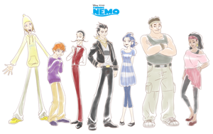 Humanized Finding Nemo Characters by lizbomb