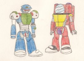 Gift: Police and fire fighter golems by eternalJonathan