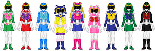 Bishoujo Sentai Sailor Girls (full team) by Toshi-san