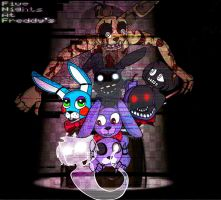 FNAF All the Bonnies by SatykDead
