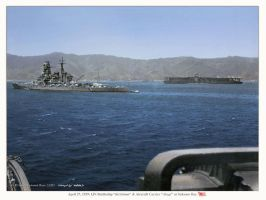 IJN Battleship Kirishima and Aircraft Carrier Akag by StephenBarlow