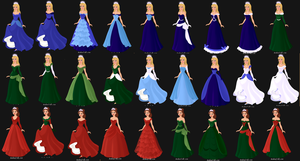 Rejected dress designs for Elle and Lia by Bunny-Tune-94
