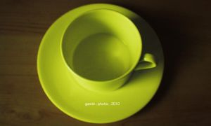 84 - Green teacup by gerrish