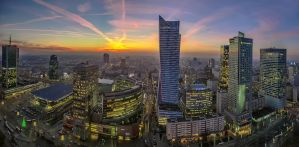 Warsaw by evening Metropolis - Urban Explorations by PatiMakowska