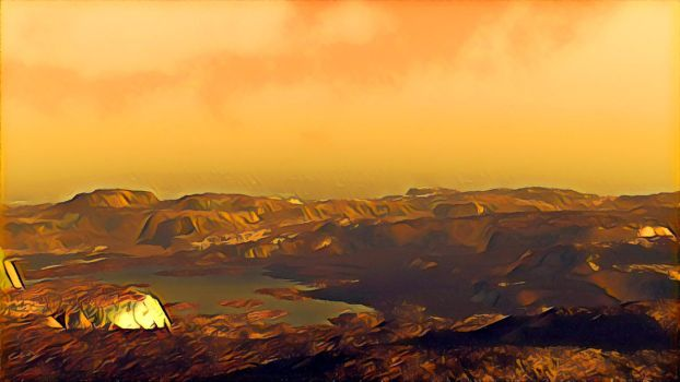 The Surface Of Titan by dmaland