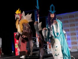 Suicune and Entei cosplay by Chao-Illustrations
