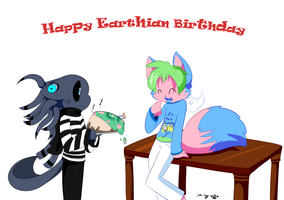 Happy Birthday Ruffy from Starnibbe by SmilehKitteh