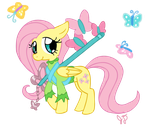 Kingdom Hearts Fluttershy by Electric-Mongoose