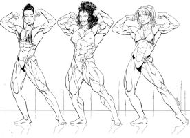 Bodybuilding contest by hardbodies