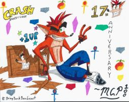 Crash Bandicoot Is 17 by mcp100