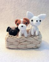 A basket full of dogs by LeFay00