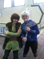 Jack Frost and Hiccup by KuroNekoYana