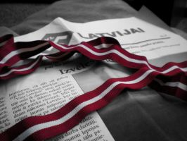 Latvian flag by adeliina