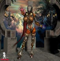 Warforged Sorcerer by Chup-at-Cabra