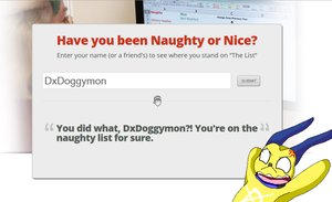 DxDoggymon is on the naughty list lol XD by HeroHeart001
