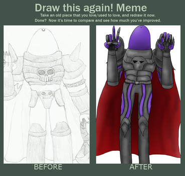 MEGAECLOROXAPARADESTRUCTORALUS: Before And After by FrostLightningX