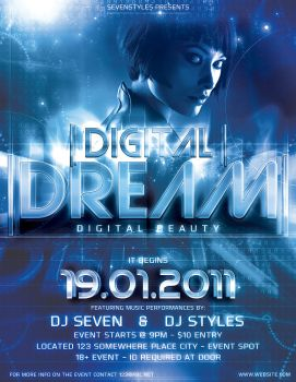 Digital Dream PSD Template by 7styles