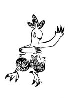 Tribal Combusken Commission by Friend-Owl