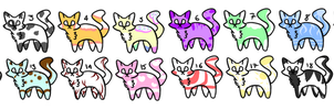 [ADOPTS] 20 Cute Cats 1 Points Each [OPEN] by CuteToyBonnie