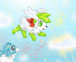 Re: Sky Shaymin Flight by Giniqua