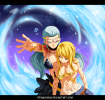 Fairy Tail 384 - Aquarius and Lucy by StingCunha
