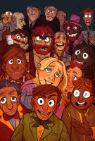The Muppets by mr-book-faced