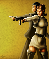 Archer and Lana by DeForrest