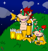 CP- Bowser and Bowser Jr. by Jei-ice