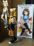 Cosplay Rin Kagamine AEX2012 by amyrose7