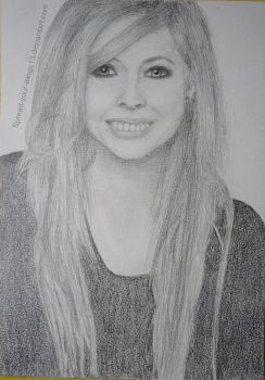 Portrait of Avril Lavigne by Spread-your-wings13