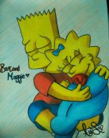 Bart and Maggie by Wilbur-distiny