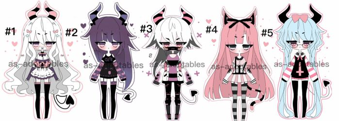 pastel goth Kemonomimi adoptable batch closed by AS-Adoptables