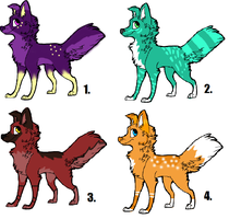 Canine Adoptables ALL OPEN by KixAdopts