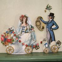 French Bride And Groom Paper Doll To Make MA12 by rhondasoriginals