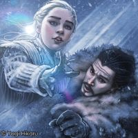 Mother of Dragons and King in the North by yagihikaru